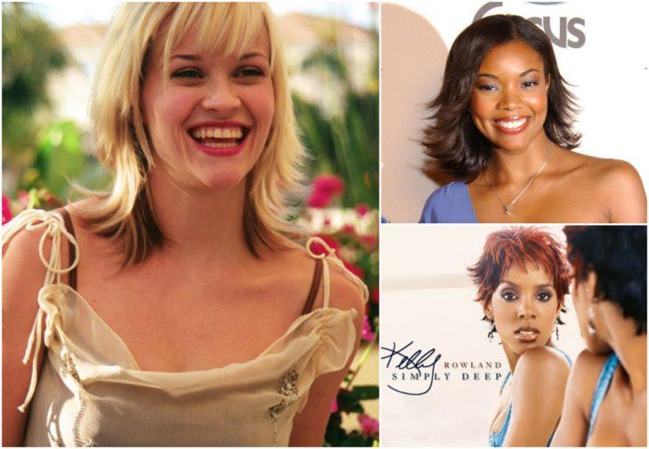 chicas usando el mismo corte de cabello