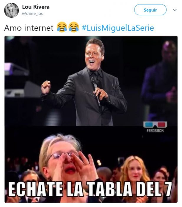 Comentarios en Twitter sobre el error de la serie Luis Miguel
