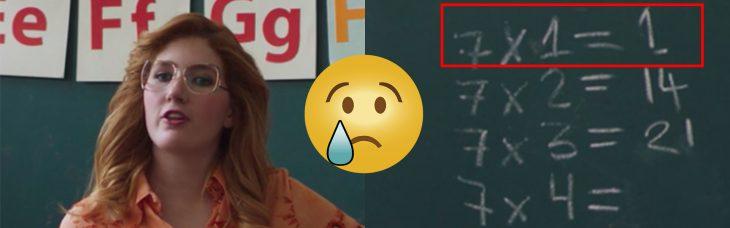 Error en la serie de Lusi Miguel. Maestra no sabe las tablas de multiplicar