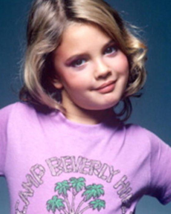 Drew Barrymore cuando era pequeña