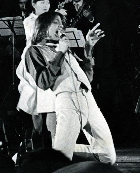 Luis Miguel dando un concierto