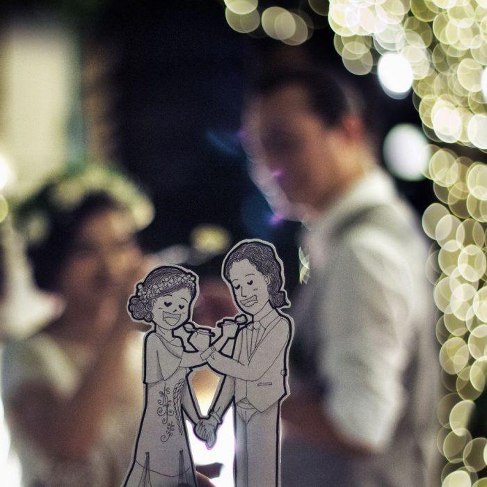 dibujo de recién casados