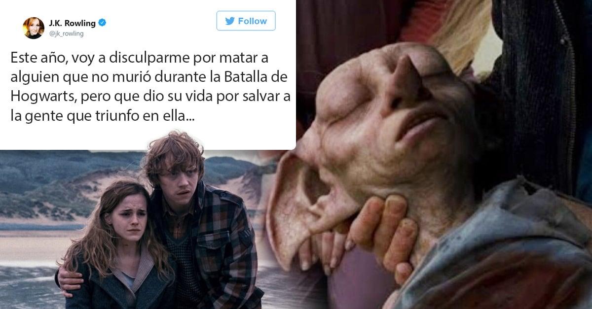 J. K. Rowling pide disculpas por matar a Dobby
