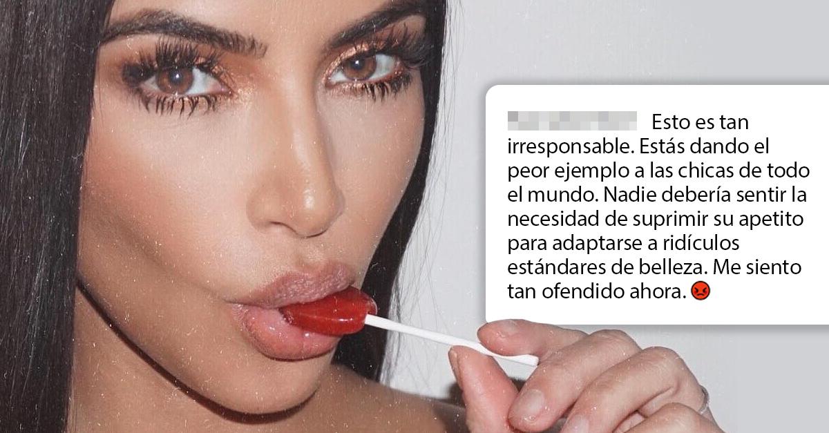 El último drama de Kim: promociona paletas supresoras del apetito