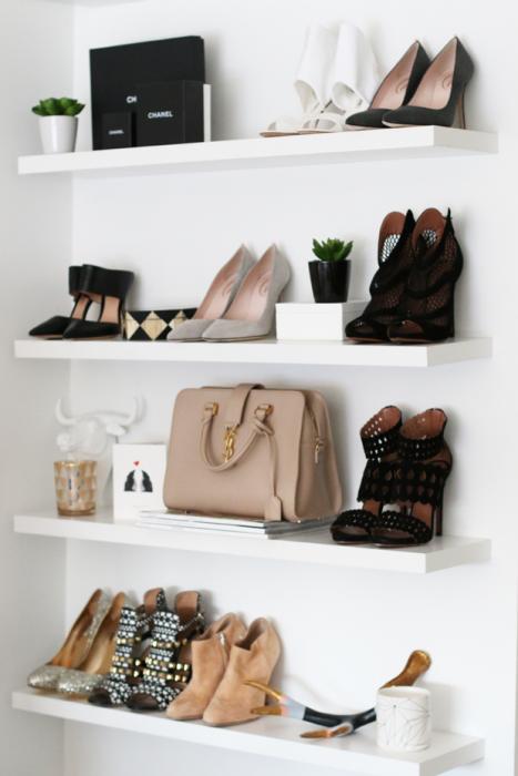Tablas para poder organizar los zapatos