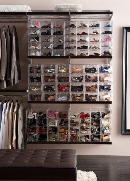 Cajas transparentes para organizar zapatos