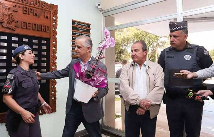 Policia brasileña que recibió un homenaje por su valentía
