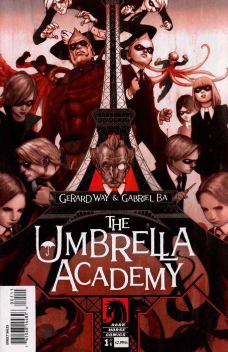 portada del comic Umbrella Academy