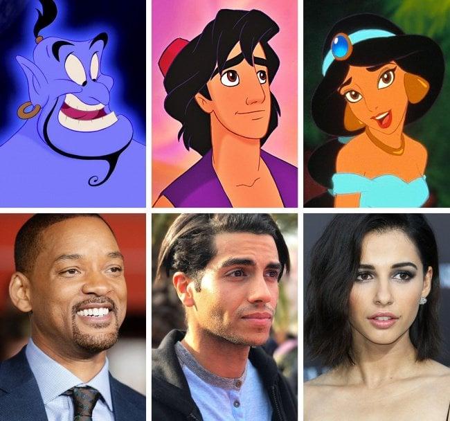 elenco de la película Aladdin