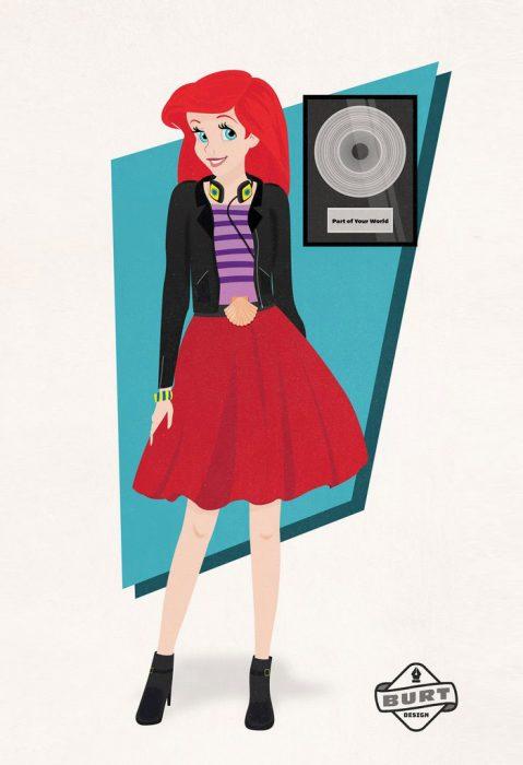 Ilustración de Ariel trabajando como dj