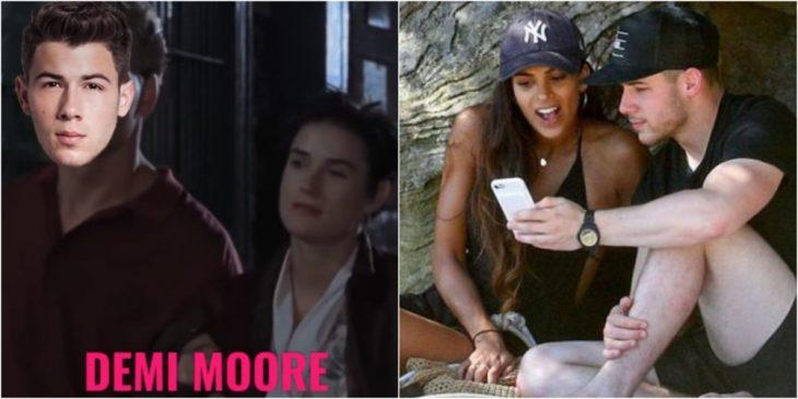 Nick Jonas y Demi Moore
