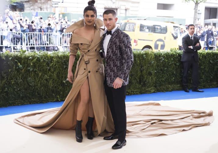 Priyanka y Nick Jonas en la gala met