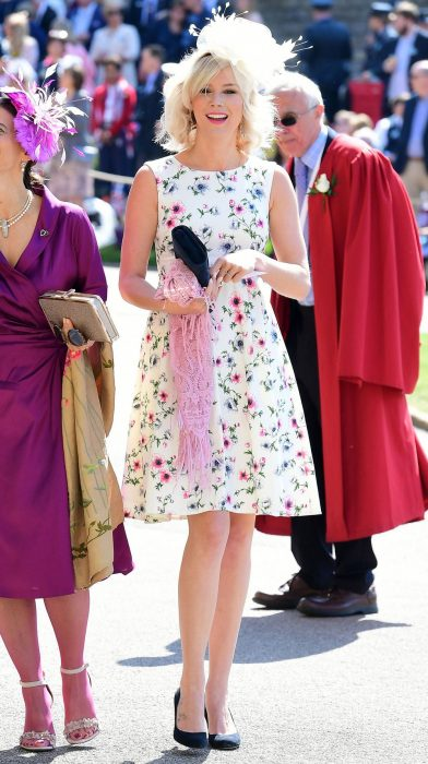 Joss stone en la boda real luciendo un vestido floreado