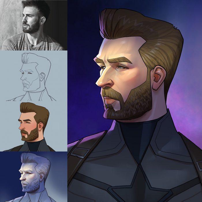 este artista imaginó a los superhéroes como una caricatura