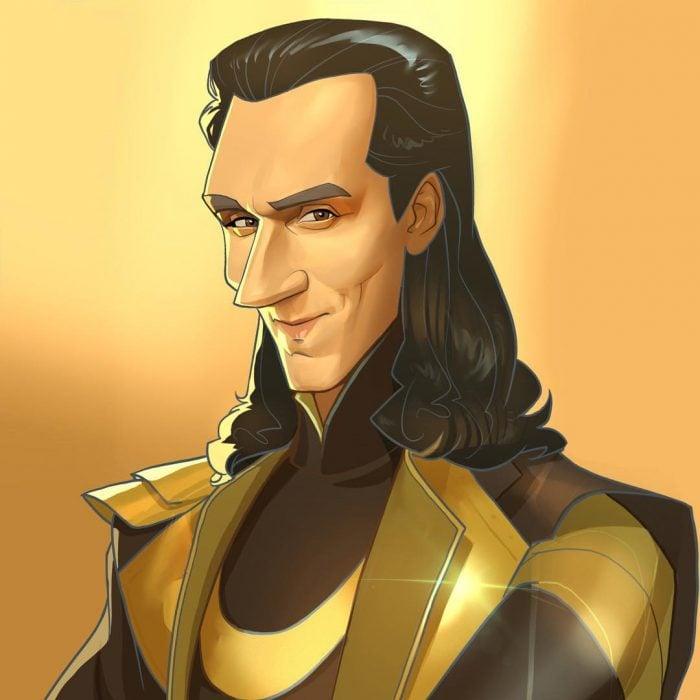 Loki imaginado como una caricatura