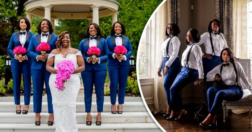 This Photo Of Bridesmaids In Tuxedos Will Redefine Your Wedding Goals