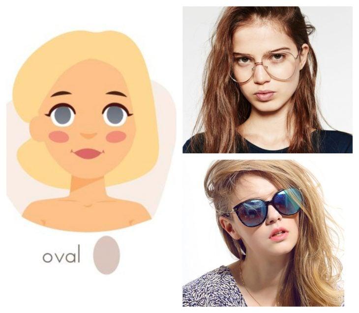 chica con rostro ovalado y gafas