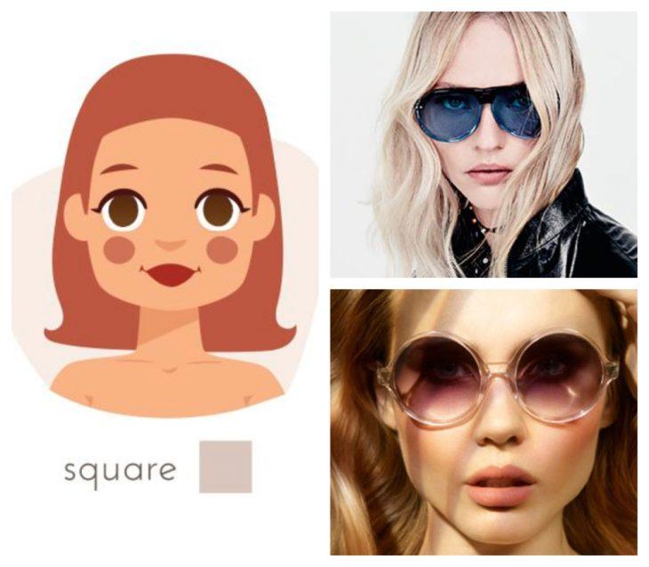 chica con rostro cuadrada y gafas