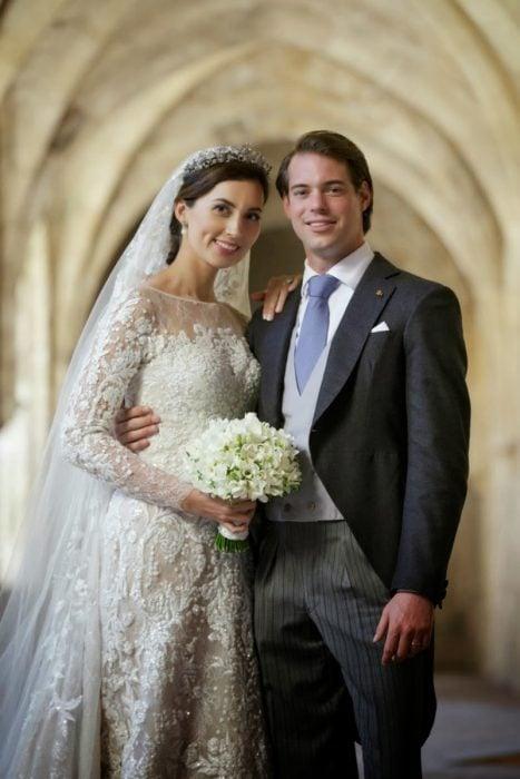 Princesa clare y su esposo el día de su boda