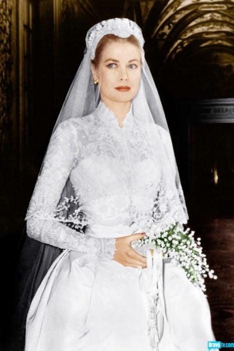 Grace kelly el día de su boda