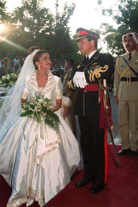 Reina de jordania el día de su boda