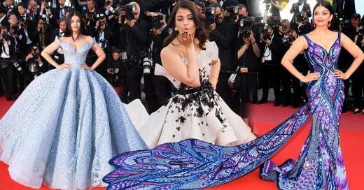 Los 10 Vestidos más deslumbrantes de Aishwarya Rai en la alfombra roja de Cannes
