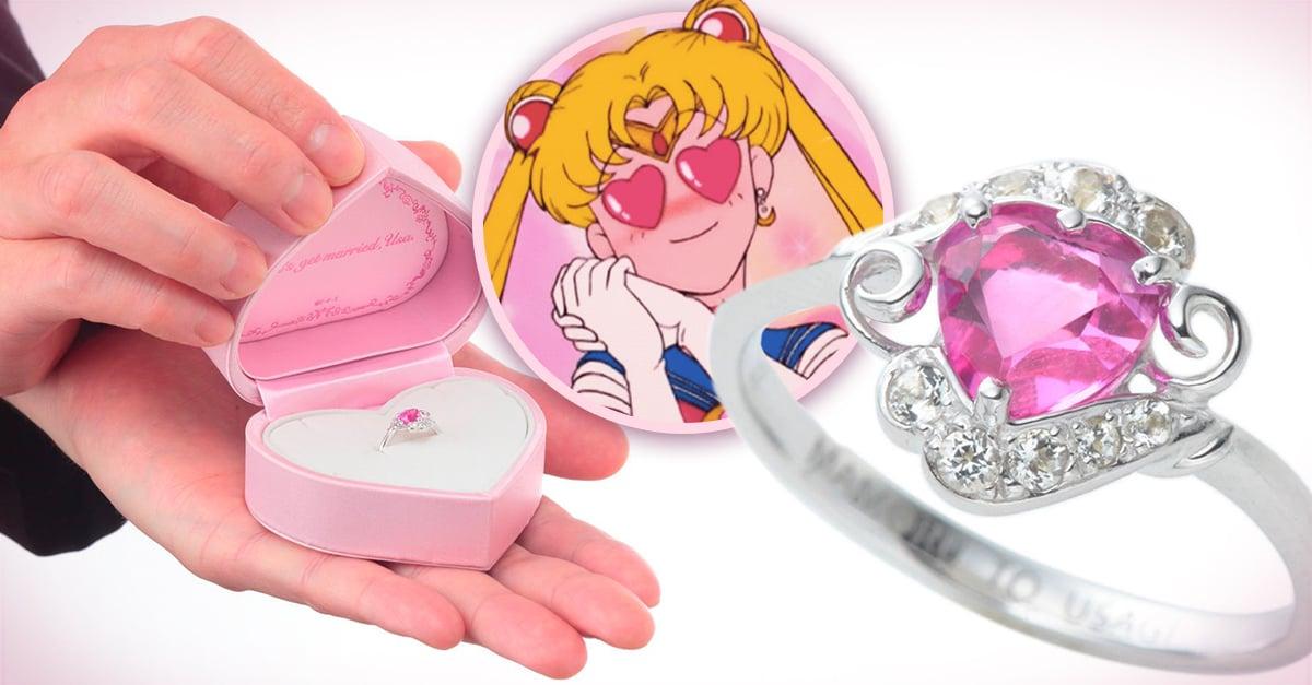 El anillo de compromiso que TODA chica fan de Sailor Moon merece recibir en su propuesta