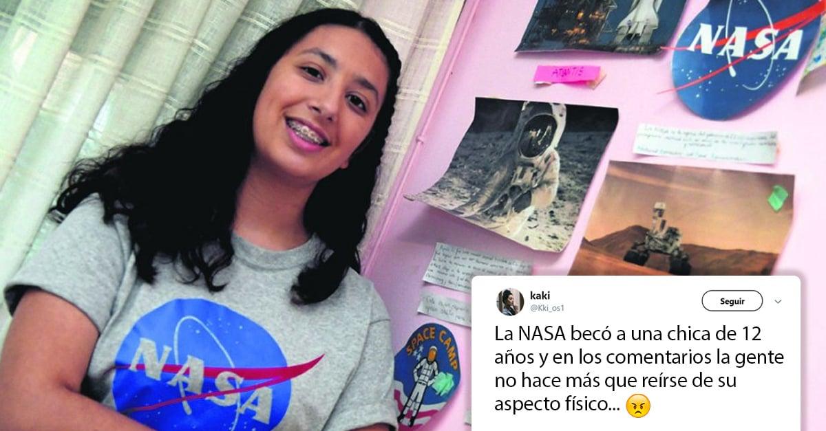 Tiene 12 años, es becada por la NASA y en las redes la critican por su apariencia