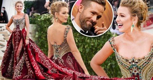 El look de Blake Lively en Gala MET tenía un mensaje 'oculto' para Ryan Reynolds