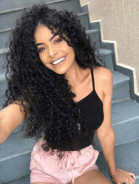 cabello largo selfie