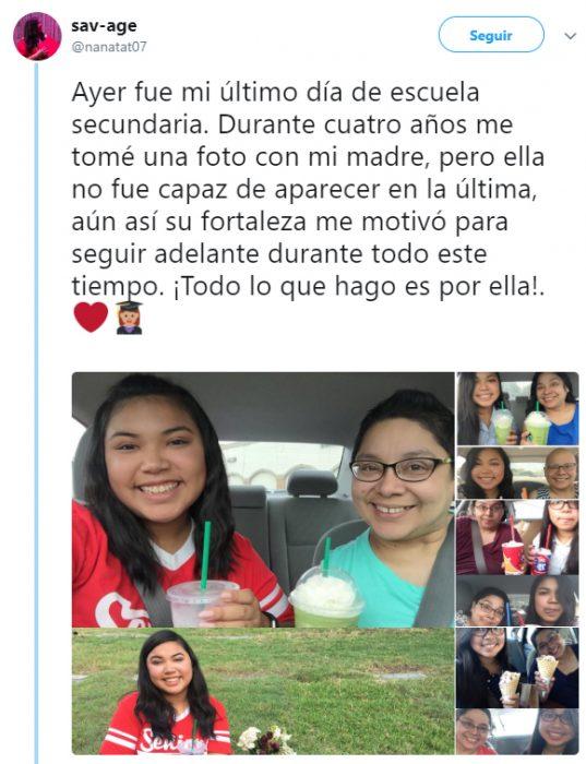 Commenta su Twitter il rapporto che una ragazza ha avuto con sua madre che è morta di cancro