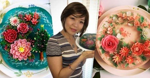 Ella transformó su dolor en arte y creó increíbles gelatinas en 3D