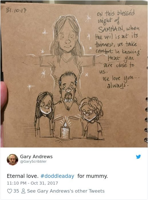 ilustración amor papá