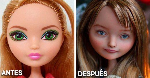 Esta artista le da un nuevo rostro a las muñecas y las hace más realistas