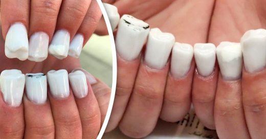 Uñas de dientes, la nueva tendencia de belleza