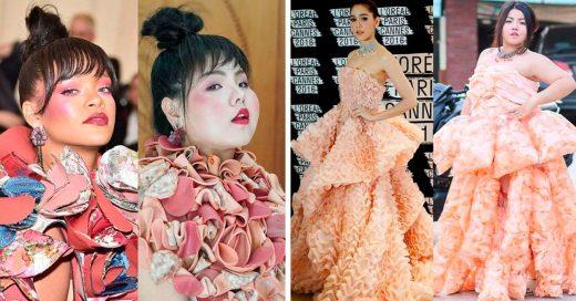 Ella recrea los mejores looks de las celebridades usando comida, y el resultado es original
