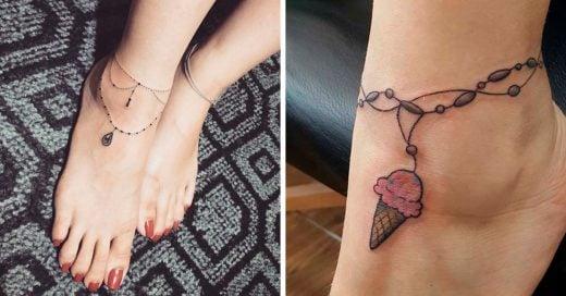 15 Diseños de tatuajes de tobillo que podrás lucir en verano