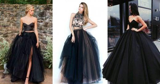 15 Vestidos negros que son perfectos para tus XV