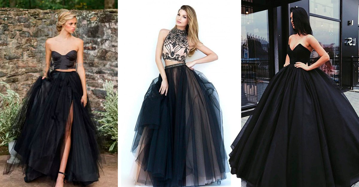 Vestidos para damas de honor color negro