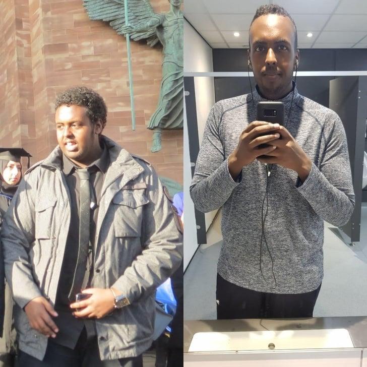 Perdida de peso antes y despues hombres