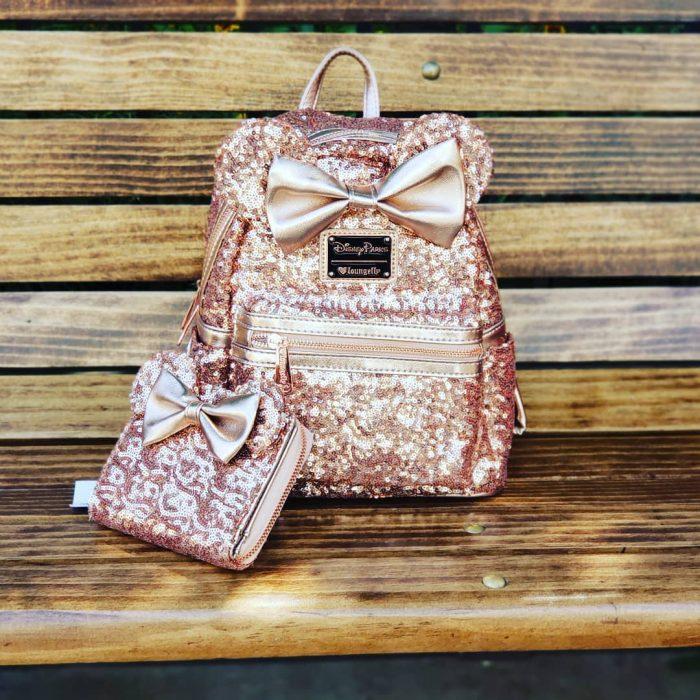 mochila rosa gold