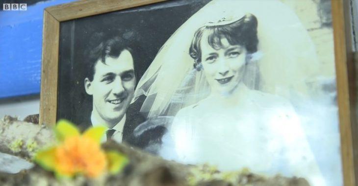 foto de recuerdo de recién casados