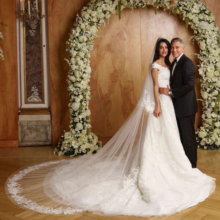 George y amal cloney el día de su boda