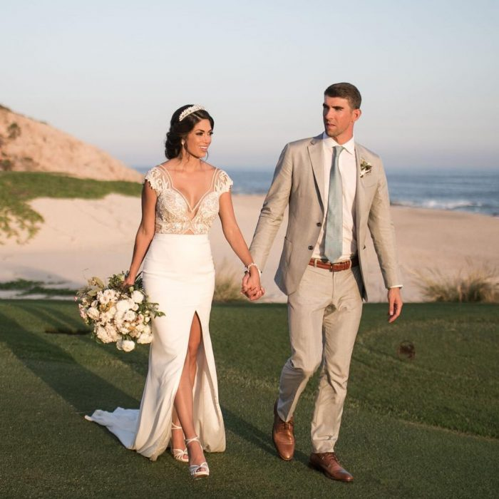 Michael Phelps y su esposa