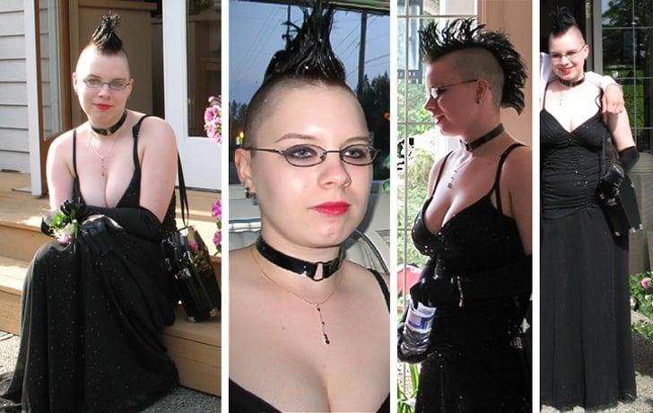 Chica punk el día de su graduación