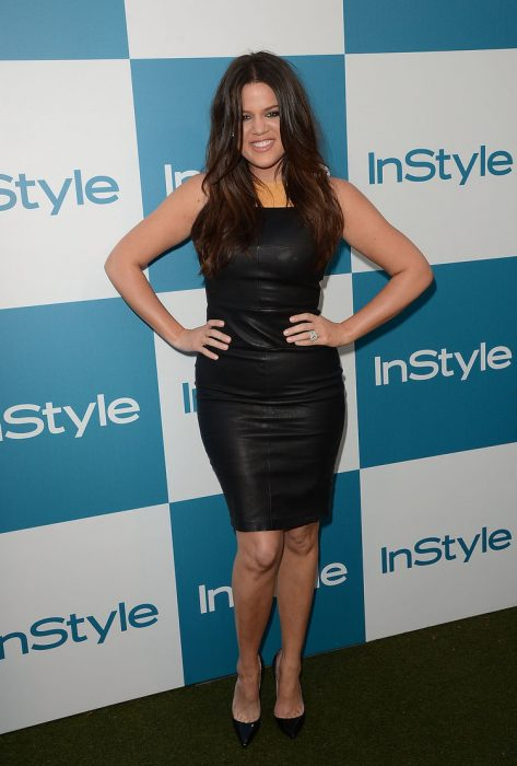 Khloe Kardashian usando un little balck dress