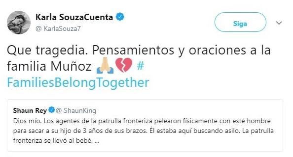 Tuit de Karla Souza