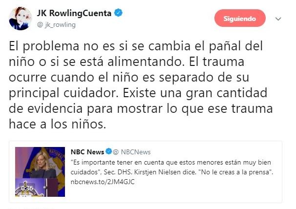 tuit de J.K. Rowling