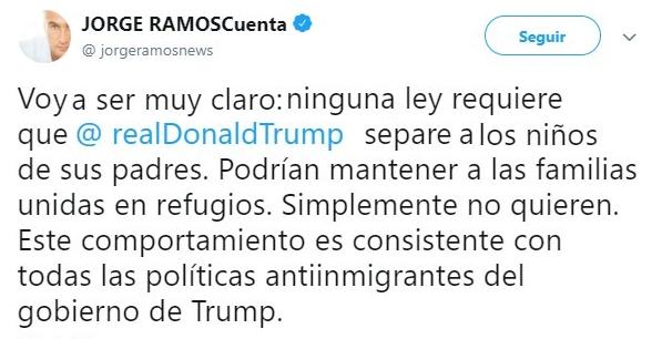 Tuit de la ley anti migratoria