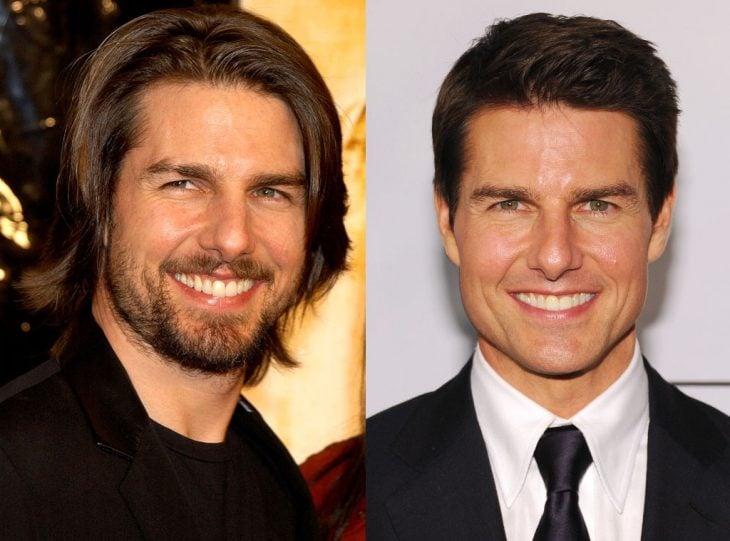 Tom Cruise joven y actualmente